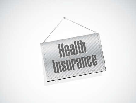 endorsed: Health Insurance banner sign concept illustration design graphic
