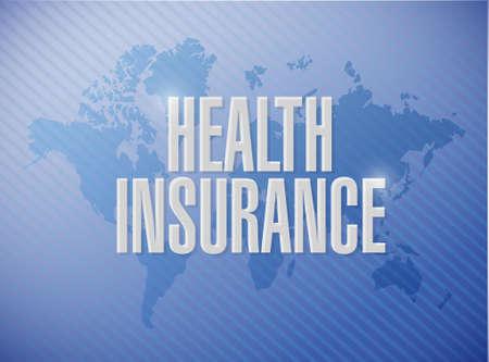 endorsed: Health Insurance world sign concept illustration design graphic