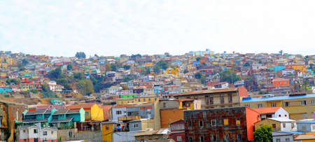unesco: Colorful buildings on the hills of the UNESCO World Heritage city of Valparaiso, Chile