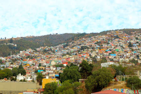 pablo: Colorful buildings on the hills of the UNESCO World Heritage city of Valparaiso, Chile