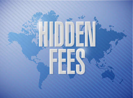 excess: hidden fees world sign concept illustration design graphic