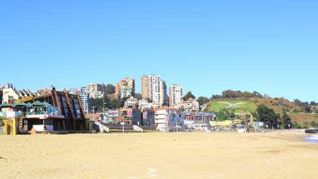 del: Viña del Mar, Reñaca and Valparaiso - Chile, Latin America. beach view