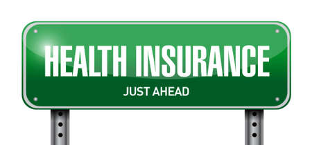 Health Insurance street sign concept illustration design graphic Stockfoto