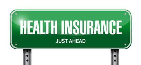 endorsed: Health Insurance street sign concept illustration design graphic Stock Photo