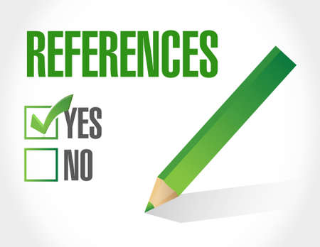 references: references check list sign concept illustration design graphic
