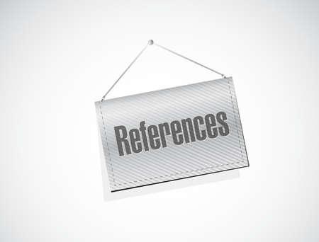 references hanging sign concept illustration design graphic Ilustrace