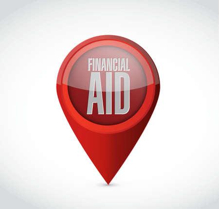 financial Aid pointer sign concept illustration design graphic Ilustrace