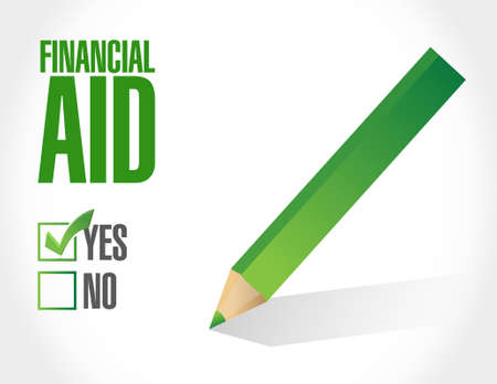 color selection: financial Aid check mark sign concept illustration design graphic