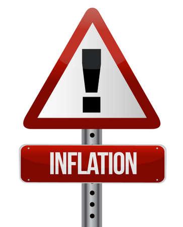 inflation: inflation warning sign concept illustration design graphic Illustration