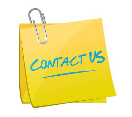 post: contact us post memo sign concept illustration design graphic