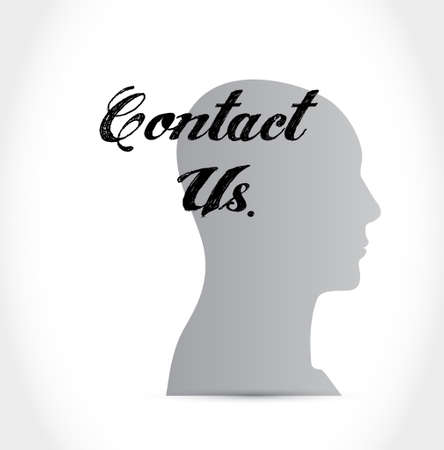 contact us people sign concept illustration design graphic