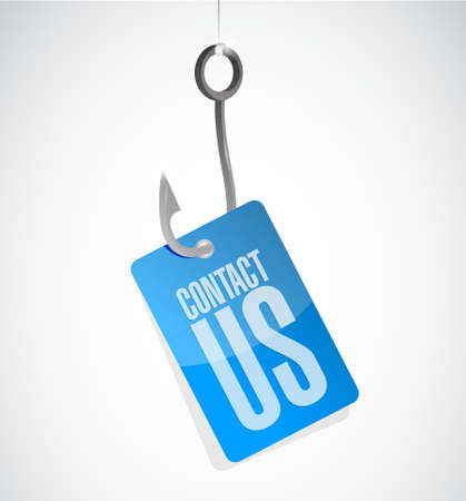 marketting: contact us hook sign concept illustration design graphic