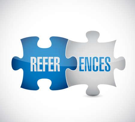 endorse: references puzzle pieces sign concept illustration design graphic