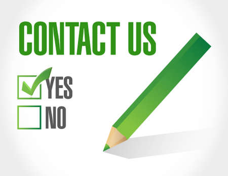 contact us sign: contact us sign concept illustration design graphic Illustration