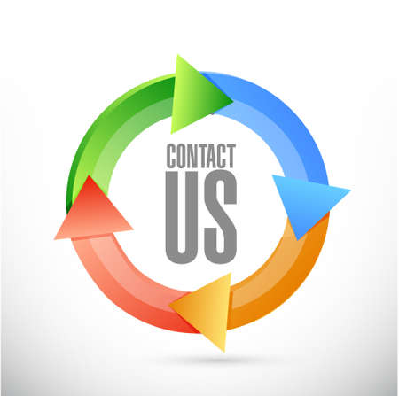 marketting: contact us cycle sign concept illustration design graphic Illustration