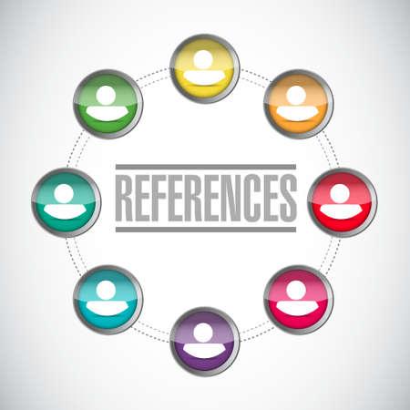 endorse: references people diagram sign concept illustration design graphic Illustration