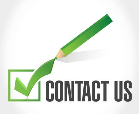 marketting: contact us check mark sign concept illustration design graphic Illustration