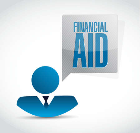 financial aid: financial Aid people sign concept illustration design graphic