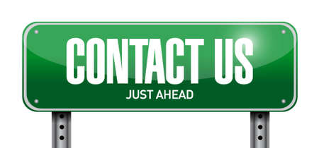 contact us post sign concept illustration design graphic Illustration