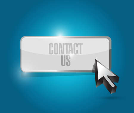 contact us button sign concept illustration design graphic