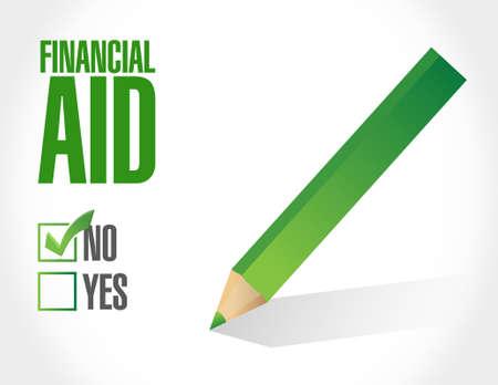 financial aid: no financial Aid sign concept illustration design graphic Illustration
