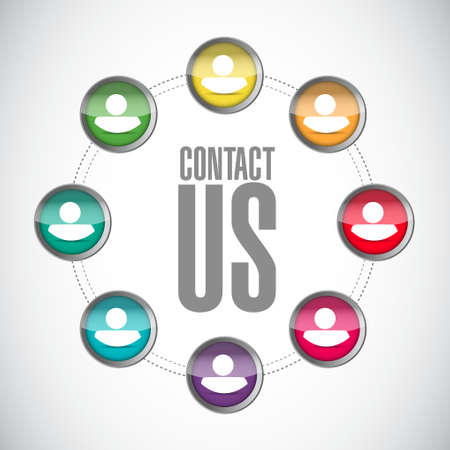 marketting: contact us community sign concept illustration design graphic