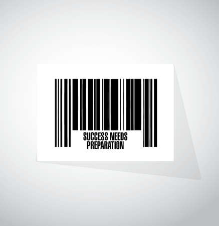 needs: success needs preparation barcode sign concept illustration design