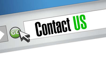 contact us browser sign concept illustration design graphic