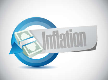 cash cycle: inflation money cycle sign concept illustration design graphic