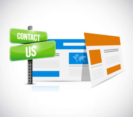 web browser: contact us web browser sign concept illustration design graphic Illustration