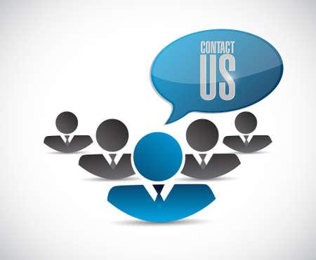 servicio al cliente: en contacto con nosotros personas firmamos ilustración del concepto de diseño gráfico
