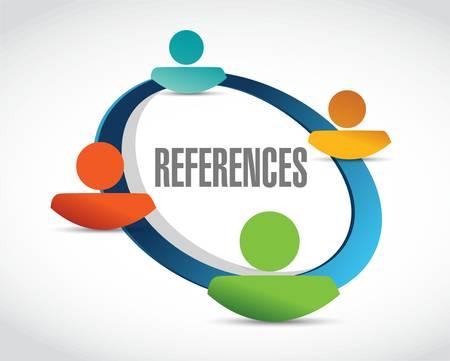 references team sign concept illustration design graphic Stock Illustratie