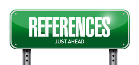 endorse: references road sign concept illustration design graphic Illustration