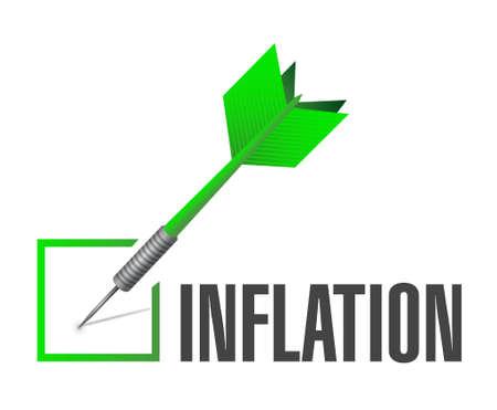 inflation: inflation check dart sign concept illustration design graphic