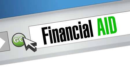 financial Aid web browser sign concept illustration design graphic