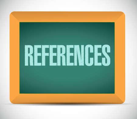 references chalkboard sign concept illustration design graphic