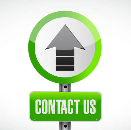 marketting: contact us road sign concept illustration design graphic
