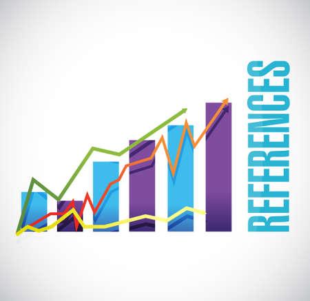 endorse: references business graph sign concept illustration design graphic