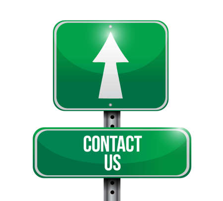 marketting: contact us street sign concept illustration design graphic