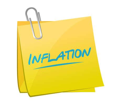 inflation: inflation post sign concept illustration design graphic Illustration