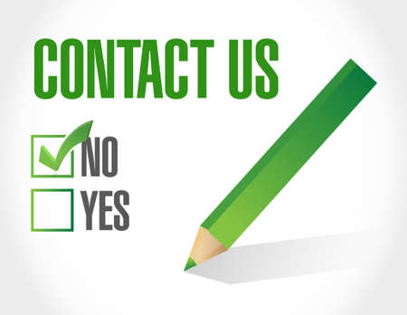 marketting: contact us check list sign concept illustration design graphic