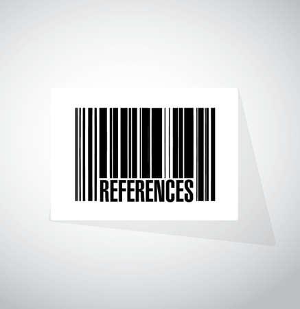 endorse: references barcode sign concept illustration design graphic Illustration