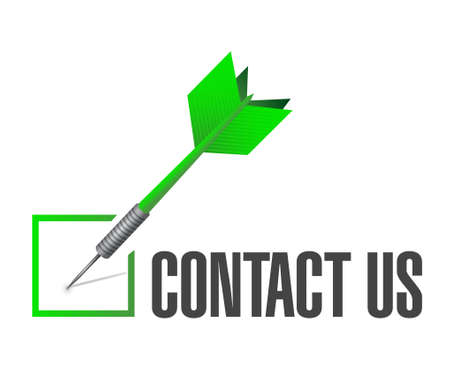 contact us check dart sign concept illustration design graphic Illustration