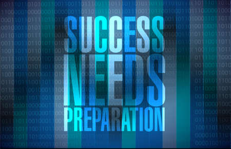 success needs preparation message sign concept illustration design 向量圖像