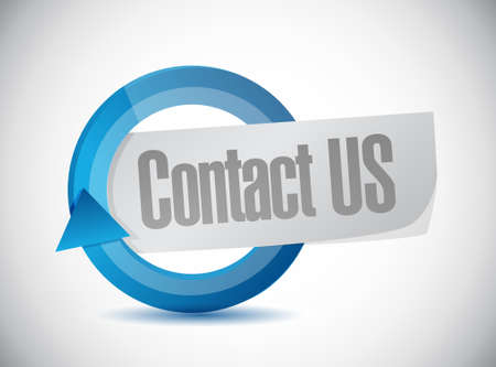 contact us cycle sign concept illustration design graphic 일러스트