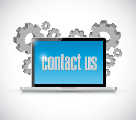 contact us computer laptop sign concept illustration design graphic Illustration