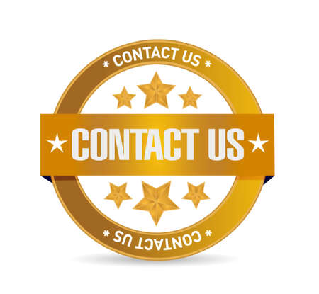 helpdesk: contact us seal sign concept illustration design graphic