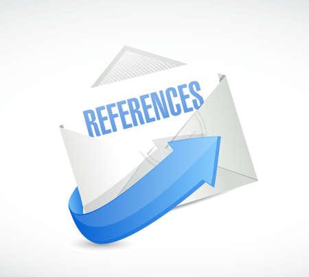 references mail sign concept illustration design graphic