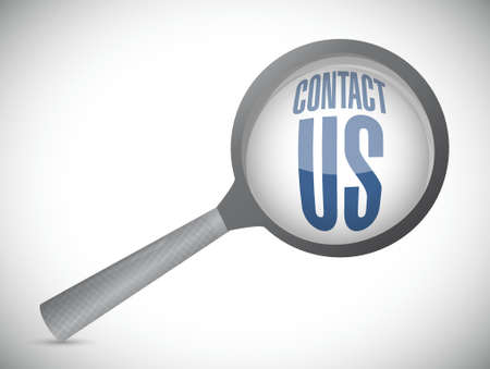 marketting: contact us search sign concept illustration design graphic
