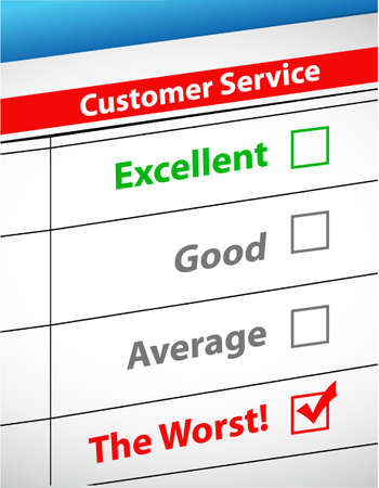 customer service: the worst customer service illustration design graphic
